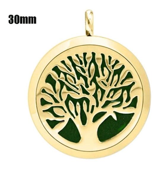 Collar Medallón Relicario Aroma Arbol Vida Acero Envío!