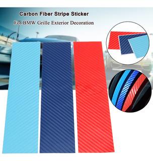Pegatina De Fibra De Carbono De 3 M, Diseño De Rayas, Para L