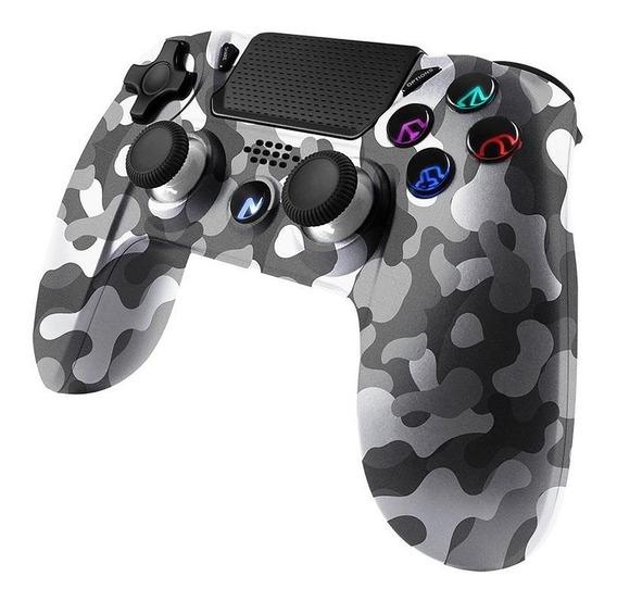 Joystick Gamepad Bluetooth Noga 4300x Camo Ps4 Tactil Gtia