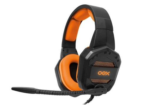 Headset Gamer Oex Conquest Hs-406 Preto/laranja