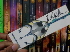 Autografo Rick Riordan- Marcador De Paginas