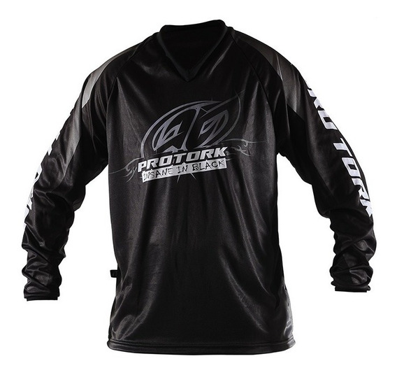 Remera Motocross Insane In Black Pro Tork Infantil Sportbay