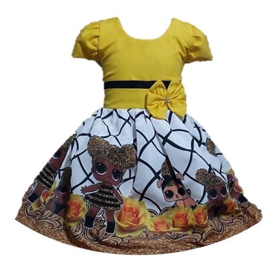 Kit 20 Vestido Temático Infantil Festa Tema Atacado Revenda
