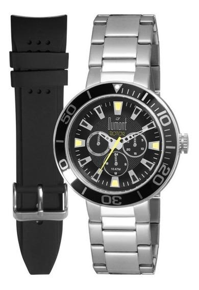 Relógio Dumont Masculino Prata Du6p29abw3p