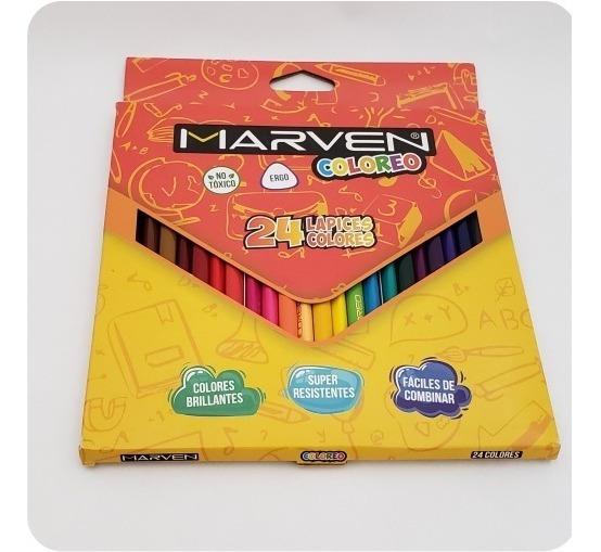 Lapices De Colores Pinturitas X 24 Unidades Marven Coloreo