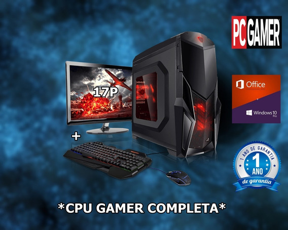 Cpu Gamer Completa 4gb Hd 500gb Placa Video2gb 128bits Ddr5