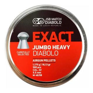 Chumbinho Jsb Exact Jumbo Heavy 5.5mm 18.13 Grans, 500 Pcs