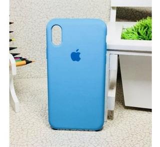 Capa Silicone Apple iPhone X Xr Xs Max Azul Bebe
