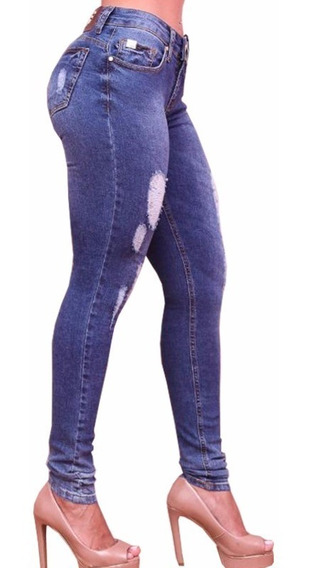 Calça Jeans Feminina Forum Skinny Distressed Suki Estonada