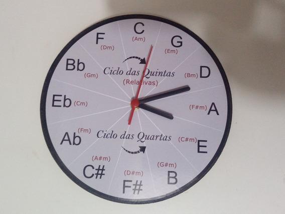Relógio Educativo De Parede - Ciclo Das Quintas - Músico