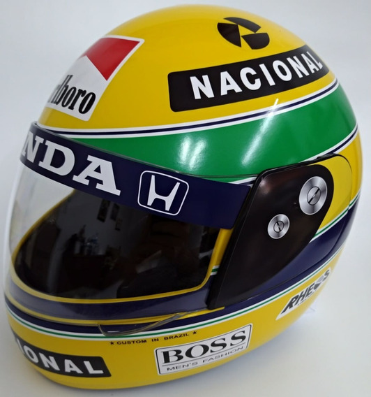 Capacete Ayrton Senna Grande, 1991 Tri-campeonato