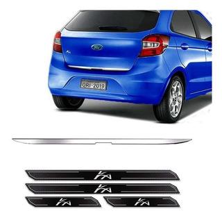 Friso Porta-malas Ford Ka Hatch 15/ + Kit Soleira Protetora