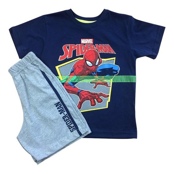 Playera Armadura Spider-man De Marvel Oficial Para Niños