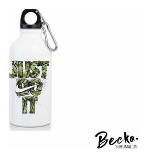 Botella Aluminio Blanca Personalizada Pack X 20