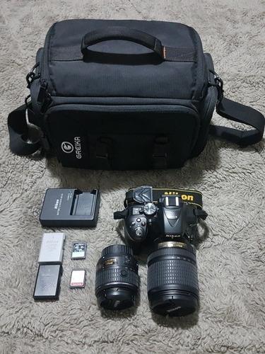 Nikon Dslr D5300 18-55mm + 18-140mm + Sd + 2 Baterias + Case