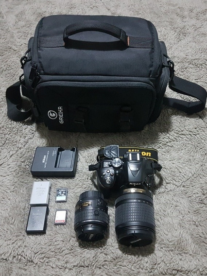 Nikon Dslr D5300 18-55mm + 18-140mm + Sd + 2 Baterias + Case