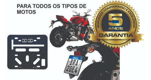 Suporte Para Placa De Moto - Retangular (universal)