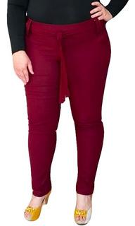 Calça Plus Size Clochard Skinny Com Faixa P Ao Exg Plus Size