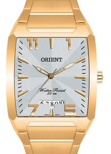 Relógio Orient Masculino Dourado Retangular - Ggss1007 S2kx
