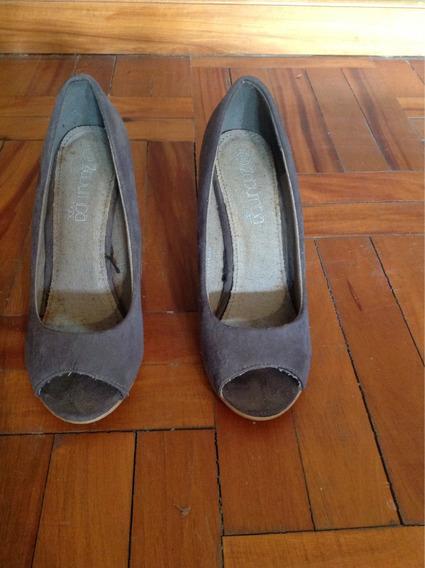 Zapatos Gris Gamuza