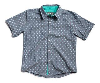 Camisa M/corta Estampada Niño - Aron - Caricatoon