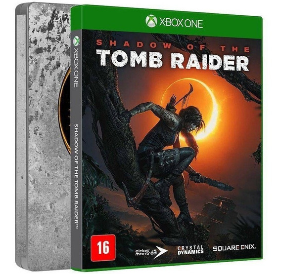 Shadow Of The Tomb Raider Stellbook Xbox One Midia Fisica Br