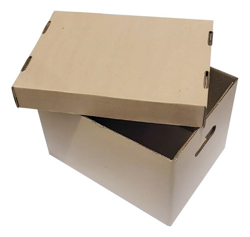 12 Cajas De Cartón X300  Con Tapa Para Archivo R.s