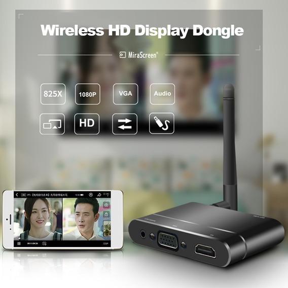 Mirascreen X6w Sem Fio Hd Exibição Dongle Recebedor 1080p