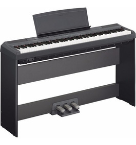 Kit Piano Digital Yamaha P125b + Fonte + Brinde Mesa Suporte