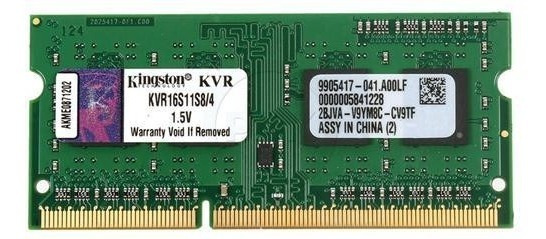 Memória Kingston 4gb 1600mhz Ddr3 P/ Notebook Kvr16s11s8/4