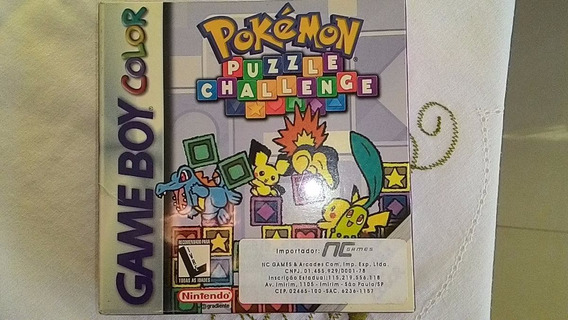Game Boy Color Jg Lacrado Pokémon Puzzele Challenge Sem Uso
