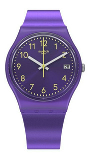 Reloj Swatch Mujer Violeta Purplazing Gv402 Malla Silicona