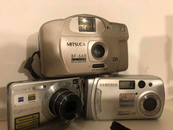 Conjunto De 3 Máquinas Fotográficas Samsung, Mitsuca E Sony