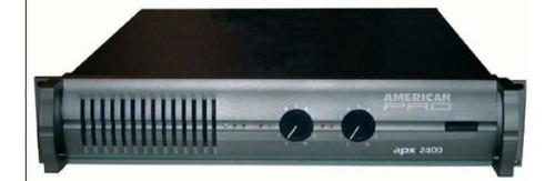 Potencia American Pro Apx-800 Serie Ii - 400 Watts X Lado
