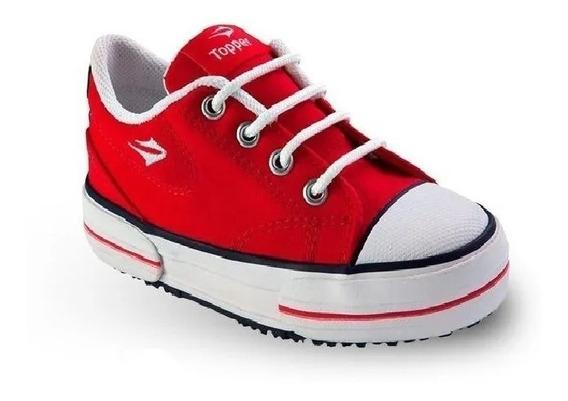 Zapatillas Topper Lifestyle Niño Nova Low Rojo Ras