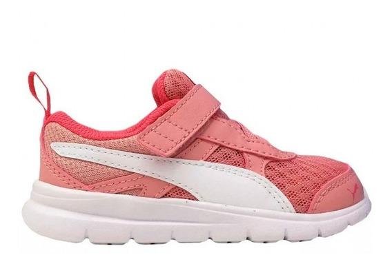 Zapatillas Puma Flex Essential Con Velcro De Niñas/bebes