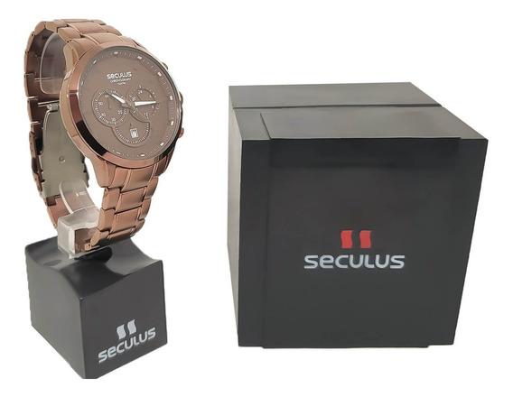 Relógio Masculino Seculus 20617gpsvma2 Original Nf-e