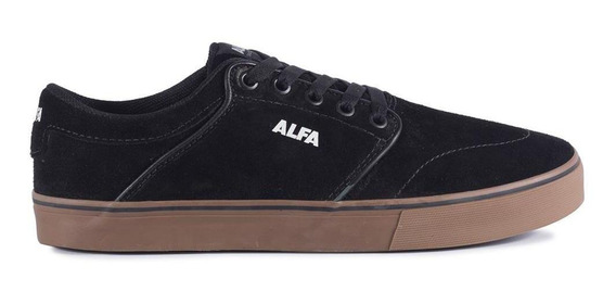 Tênis Alfa Skate Switch Preto E Latex Camurça Melhor Preço