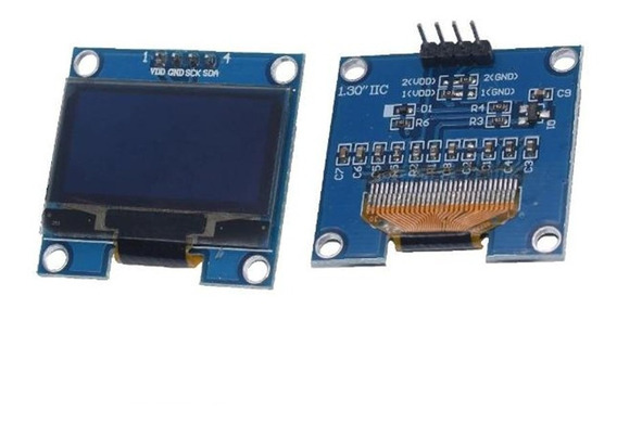 Display 1.3 Oled 128x64 I2c Azul Arduino Raspberry Arm