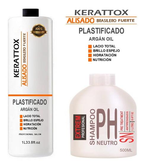 Alisado Plastificado 1 Litro Definitivo + Shampoo Neutro 500