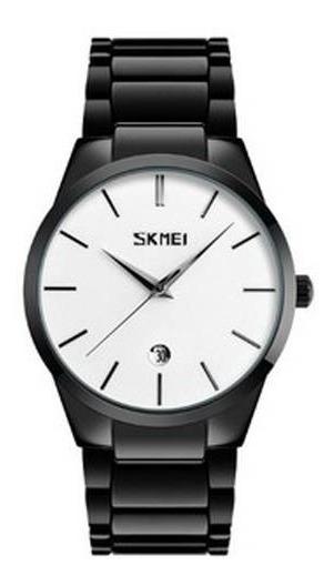 Relógio Masculino Skmei Analógico 9140 Fundo Branco