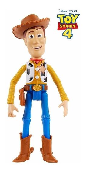 Boneco Woody Toy Story 4 Fala Português 24 Cm- Articulável