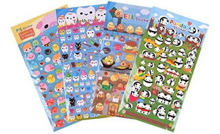 Daelim Panda, Huevo, Cerdo Y Diario Pegatina Deco Df14-575 P