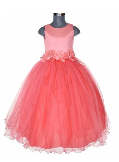 Vestido De Fiesta Para Niña Diferentes Colores Tallas 2-12