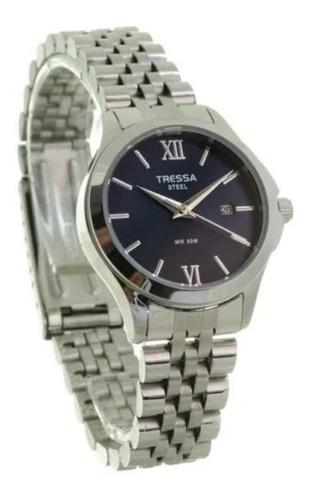 Reloj Tressa De Dama De Acero Sumergible Calendario Date-d