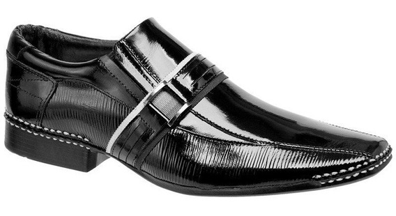 Sapato Social Masculino Couro Verniz Legítimo