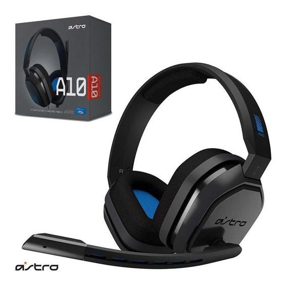 Headset Gamer Astro A10 Ps4/switch/pc Preto E Azul C/ Nota