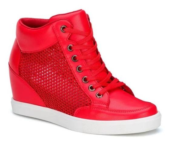 Tenis Rojos Tacon Wedge Cuña 6cms. Envio Gratis