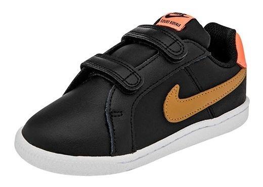 Tenis Nike Court Royale (btv) Negro Talla #14 Bebe Cdl