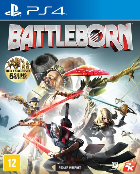 Battleborn Ps4 Dlc Exclusiva 5 Skins De Ouro Midia Fisica